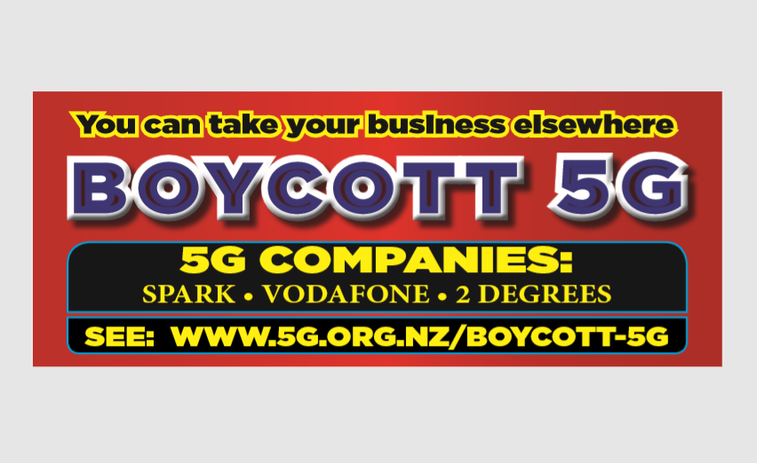 Boycott 5G bumper stickers available now!